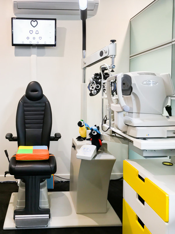 Our children-friendly consulting room makes for a fun and non-intimidating eye test experience for the kids.