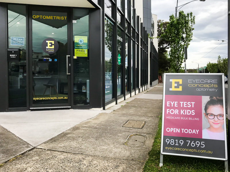 Bulk billed children's eye test at Eyecare Concepts, Kew East Melbourne