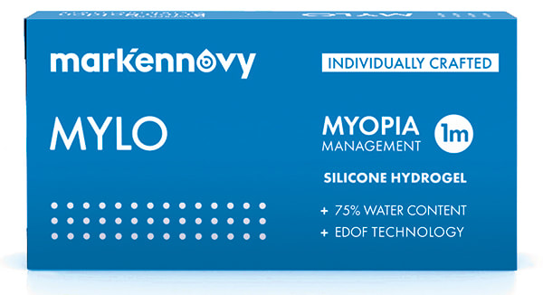 Mark'ennovy MYLO myopia management soft contact lenses. Myopia control optometrist Melbourne.